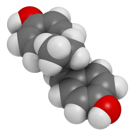 teratogenic: Diethylstilbestrol (DES, stilboestrol) synthetic estrogen molecule, chemical structure.  Stock Photo