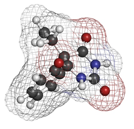 anticonvulsant: Phenobarbital barbiturate anticonvulsant  epilepsy drug , chemical structure  Atoms are represented as spheres with conventional color coding  hydrogen  white , carbon  grey , oxygen  red , nitrogen  blue