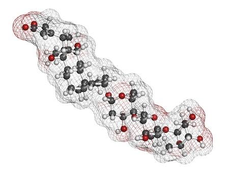insuficiencia cardiaca: droga digoxina insuficiencia card�aca, la estructura qu�mica. Extra�do de la planta dedalera (digitalis lanata) Los �tomos se representan como esferas con c�digo de colores convencionales: hidr�geno (blanco), el carb�n (gris), ox�geno (roja)