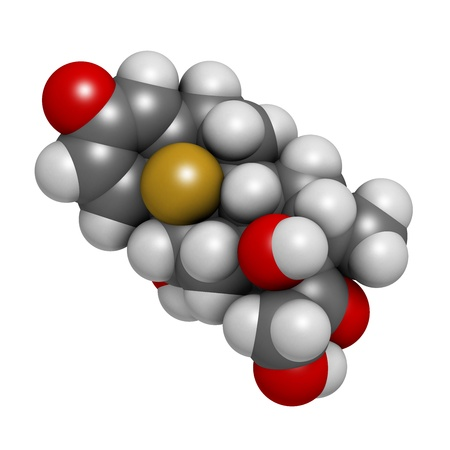 immunosuppressive: Betamethasone anti-inflammatory and immunosuppressive steroid drug, chemical structure. Atoms are represented as spheres with conventional color coding: hydrogen (white), carbon (grey), oxygen (red), fluorine (gold)