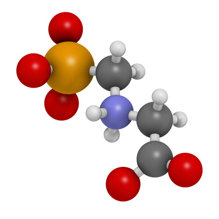 genetically modified organisms: Glyphosphate herbicide molecule. Crops resistant to glyphosphate (genetically modified organisms, GMO) have been produced by genetic engineering. Atoms are represented as spheres with conventional color coding: hydrogen (white), carbon (grey), nitrogen (b