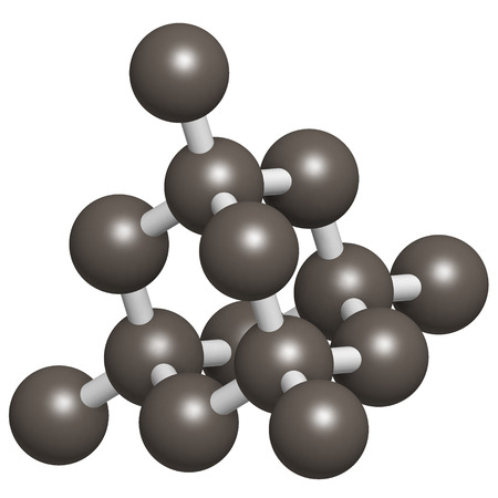 Pure silicon (Si, silicium), crystal structure. Main building material of computer chips. Atoms are represented as spheres. photo