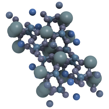 fibrous: Crystal structure of Riebeckite. Crocidolite or blue asbestos is the fibrous form of this mineral and is believed to be the most hazardous type of asbestos. color coding: large gold - iron (Fe); gray - silicon (Si) aluminum (Al); blue - sodium (Na); red