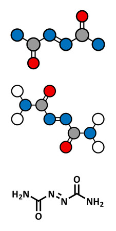 branqueamento: Azodicarbonamida mol Ilustra��o