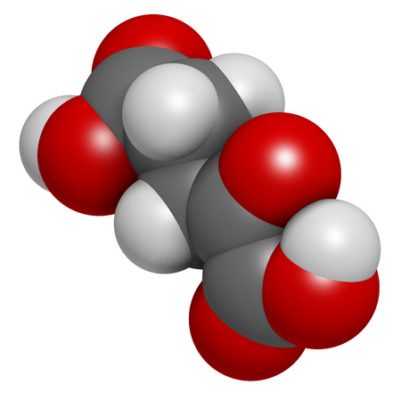 amoniaco: -Alpha cetoglutárico (cetoglutarato, oxo-glutarato). Molécula intermedia en el ciclo de Krebs. Encontrado a prolongar la vida útil (en los nematodos). Los átomos se representan como esferas con codificación convencional color: hidrógeno (blanco), el carbón (gris), oxígeno (roja).