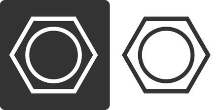 aromatique: Benz�ne (C6H6) mol�cule d'hydrocarbure aromatique, ic�ne de style plat. Formule du squelette.