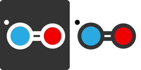 Nitric oxide (NO) free radical molecule, flat icon style. Atoms shown as color-coded circles (oxygen - red, nitrogen - blue).  Vector