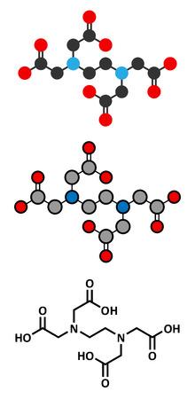 EDTA (ethylenediaminetetraacetic acid) complexing agent molecule. Illustration