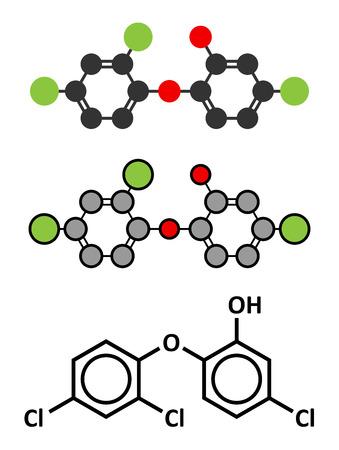 antimicrobial: Triclosan antimicrobial molecule.