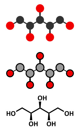 chemical compound: Xylitol artificial sweetener molecule.