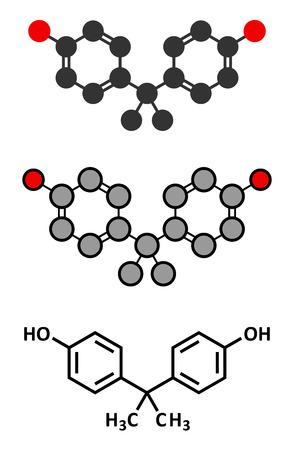 carcinogen: El bisfenol A (BPA) de pl�stico mol�cula contaminante.
