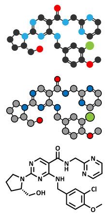 impotence: Avanafil erectile dysfunction drug molecule.