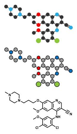 Bosutinib chronic myelogenous leukemia (CML) drug molecule.