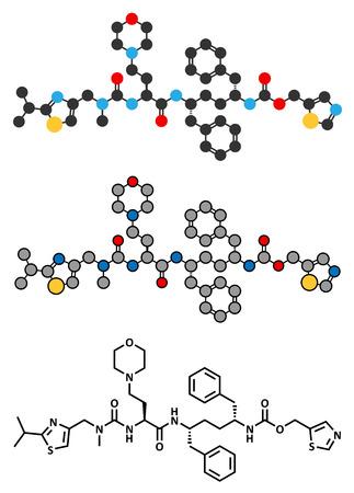 virus sida: Cobicistat la inhibici�n de citocromo P450 mol�cula de f�rmaco. Vectores