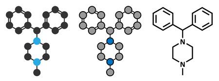 histamine: Cyclizine antiemetic drug molecule.