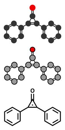 wart: Diphencyprone (diphenylcyclopropenone) alopecia treatment drug molecule.