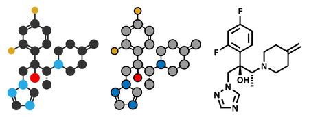 fungicide: Efinaconazole antifungal drug molecule.