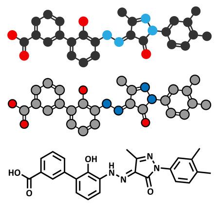 thrombocytopenia: Eltrombopag thrombocytopenia (low blood platelet count) drug molecule.  Illustration