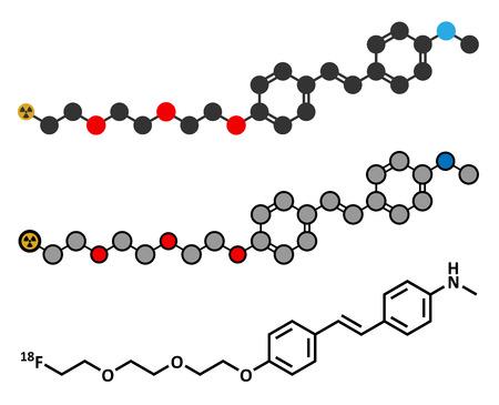 positron: Florbetaben radiopharmaceutical molecule.