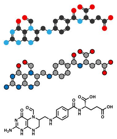 adjuvant: Folinic acid (leucovorin) drug molecule.