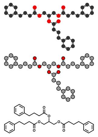 ammonia: Glicerol fenilbutirato de ciclo de la urea mol�cula de f�rmaco trastorno. Vectores