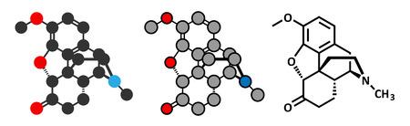 narcotic: Hydrocodone narcotic analgesic drug molecule.