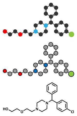 pokrzywka: Lek przeciwhistaminowy hydroksyzyny. Ilustracja