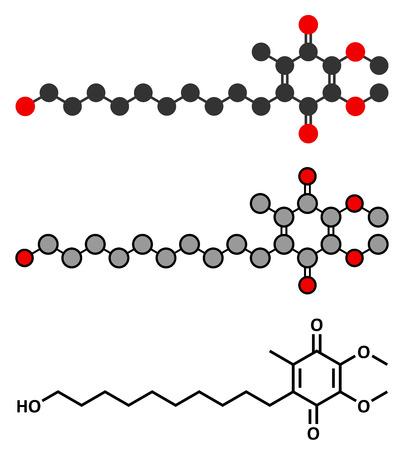 dystrophy: Idebenone drug molecule.