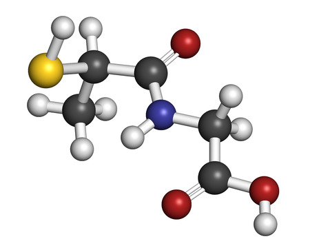 wilson: Tiopronin cystinuria drug molecule. Has orphan drug status.  Atoms are represented as spheres with conventional color coding: hydrogen (white), carbon (grey), oxygen (red), nitrogen (blue), sulfur (yellow).