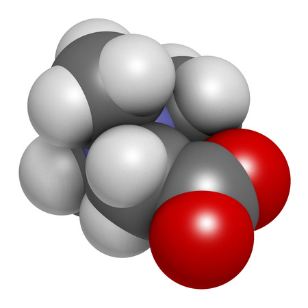 methyl: Betaine (glycine betaine, trimethylglycine) molecule. Originally found in sugar beet (Beta vulgaris). Atoms are represented as spheres with conventional color coding: hydrogen (white), carbon (grey), oxygen (red), nitrogen (blue).