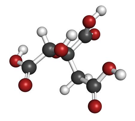 hidrogeno: El �cido hidroxic�trico (HCA, hidroxicitrato) mol�cula. Utilizado como la p�rdida de peso suplemento nutricional. Los �tomos se representan como esferas con codificaci�n de colores convencionales: hidr�geno (blanco), carb�n (gris), ox�geno (rojo).