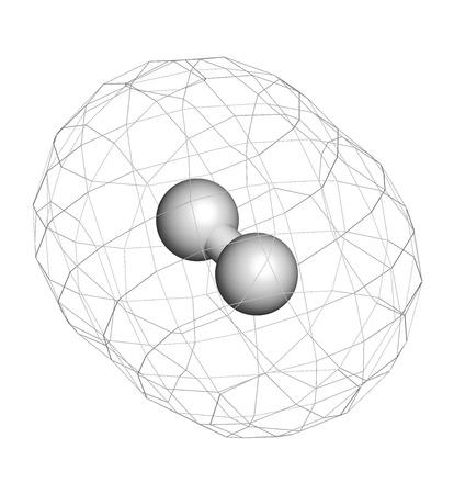 hidrogeno: El gas hidr�geno (H2) mol�cula.