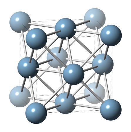 alumina: Aluminium (aluminum) metal, crystal structure.