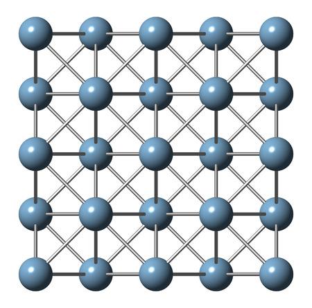 aluminium: Aluminium (aluminum) metal, crystal structure.