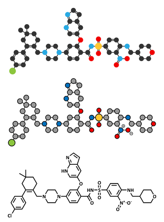 apoptosis: Venetoclax cancer drug molecule (BCL-2 inhibitor).