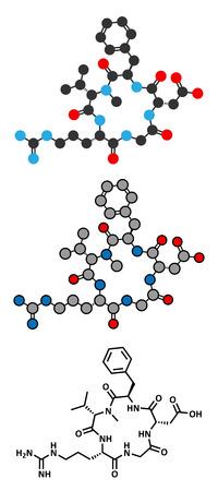 Cilengitide cancer drug molecule.