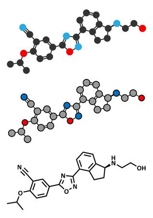 phosphate: Ozanimod anti-inflammatory drug molecule (S1PR1 modulator).