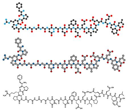 anticoagulant: Bivalirudin anticoagulant drug molecule (direct thrombin inhibitor). Illustration