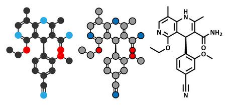 heart failure: Finerenone heart failure drug molecule (mineralocorticoid receptor antagonist). Illustration
