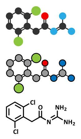 Guanfacine ADHD drug molecule.