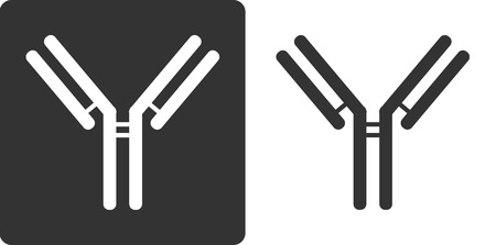 IgG1 antibody (immunoglobulin), flat icon style. Many biotech drugs are antibodies.