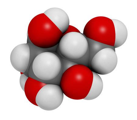 hidrogeno: Manosa mol�cula de az�car (D-manosa). representaci�n 3D. Epimer de glucosa. Los �tomos se representan como esferas con codificaci�n de colores convencionales: hidr�geno (blanco), carbono (gris), ox�geno (rojo).