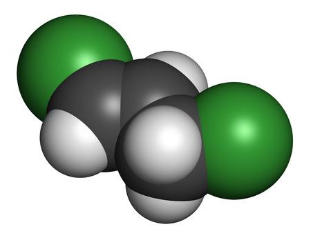 Trans-1,3-dichloropropene (dichloropropene) Pesticide Molecule ...