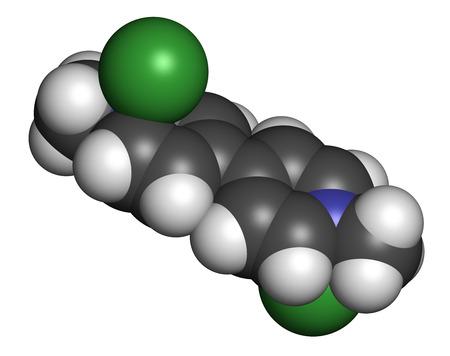 hidrogeno: mol�cula herbicida paraquat representaci�n 3D. Los �tomos se representan como esferas con codificaci�n de colores convencionales: hidr�geno (blanco), carbono (gris), nitr�geno (azul).