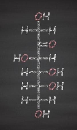 Fructose (D Fructose) Fruit Sugar Molecule. Component Of High Fructose Corn