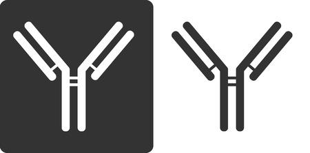 epitope: IgG1 antibody (immunoglobulin), flat icon style. Many biotech drugs are antibodies.