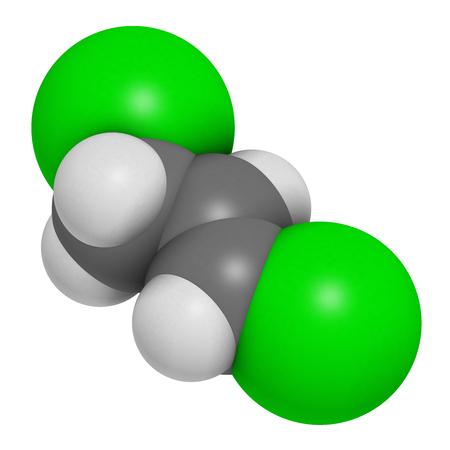 Dicofol Organochlorine Pesticide Molecule. 3D Rendering. Atoms ...