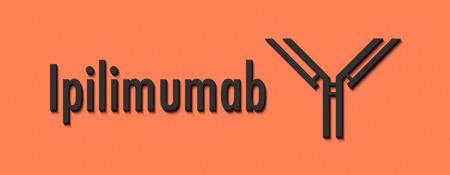 Ipilumab monoclonal antibody drug. Targets CTLA-4 (immune checkpoint inhibitor) and is used in the treatment of cancer. Generic name and stylized antibody.