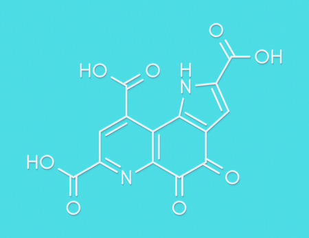 Pyrroloquinoline quinone (PQQ) redox cofactor molecule. Skeletal formula.
