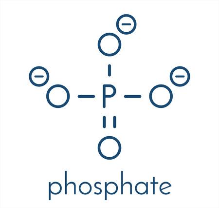 인산염 음이온, 화학 구조. 골격 공식.